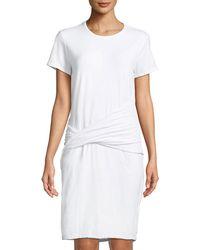 James Perse - Twist-waist T-shirt Dress - Lyst