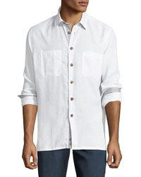 Luciano Barbera - Men's Linen Sport Shirt - Lyst