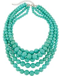 Kenneth Jay Lane - Five-row Beaded Necklace - Lyst