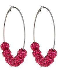 Fragments - Fireball Bead Hoop Earrings - Lyst