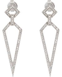 Penny Preville - 18k White Gold Diamond Stiletto Drop Earrings - Lyst