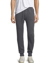 Neiman Marcus - Cashmere-cotton Knit Jogger Pants - Lyst