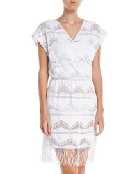 Saha - Lace Fringe-hem Coverup Dress - Lyst