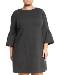 Lafayette 148 New York - Marissa 3/4-bell-sleeve Punto Milano Dress - Lyst