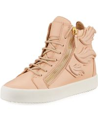 Giuseppe Zanotti - Wings Leather High-top Sneakers - Lyst