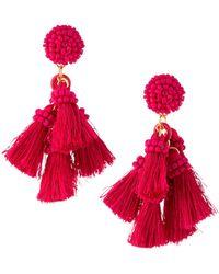 Lydell NYC - Multi-tassel Drop Earrings - Lyst