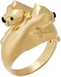 Cartier - 18k Double Panther Ring - Lyst