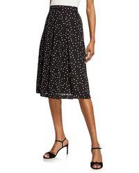 Tahari - Polka Dot Pleated Skirt - Lyst