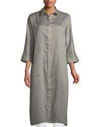 Lafayette 148 New York - Sally Gemma Cloth 3/4-sleeve Long Duster Jacket - Lyst