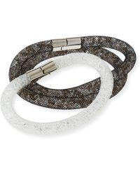 Swarovski - Stardust Convertible Crystal Mesh Bracelet/choker Set - Lyst