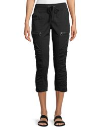 XCVI - Kahiwa Ruched-side Cropped Cargo Pants - Lyst