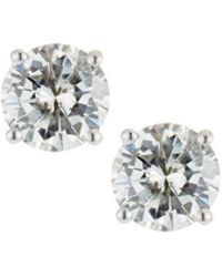 Neiman Marcus - 18k White Gold Round Diamond Solitaire Stud Earrings 1.5tcw - Lyst
