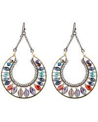 Nakamol - Bright Crescent Crystal Dangle Earrings - Lyst