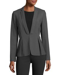 Tahari - Pinstriped Pleated Jacket - Lyst