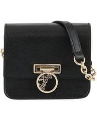 cd3db4a65830 Lyst - Versace Women s Medusa Handbag Satchel Snakeskin Leather ...