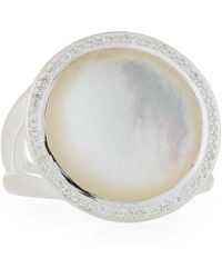 Ippolita - Lollipop Ring In Mother-of-pearl Doublet With Diamonds - Lyst