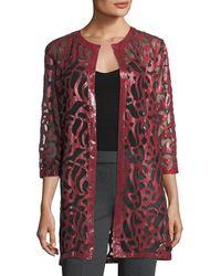 Grayse | 3/3-sleeve Semisheer Coat | Lyst