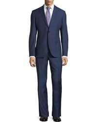 Neiman Marcus - Dotted Wool Two-piece Suit Navy - Lyst