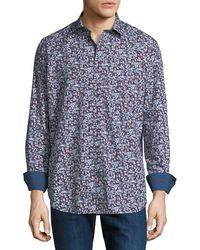 Bugatchi - Men's Classic-fit Printed Woven Sport Shirt - Lyst
