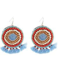 Nakamol - Mini Tassel Circle Drop Earrings - Lyst