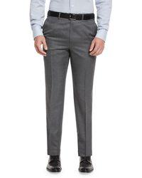 Brioni - Flat-front Twill Trousers - Lyst