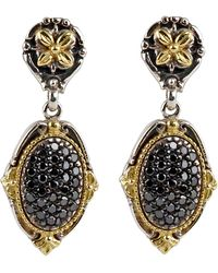 Konstantino | Asteri Pave Black Diamond Double-drop Earrings | Lyst