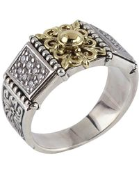 Konstantino - Asteri Floral Pave White Diamond Band Ring - Lyst