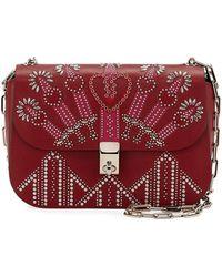Valentino - Love Blade Embroidered Shoulder Bag - Lyst