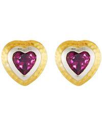Gurhan - Romance Rhodolite Garnet Heart Stud Earrings - Lyst