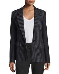 DKNY - Striped Wool-blend Jacket - Lyst