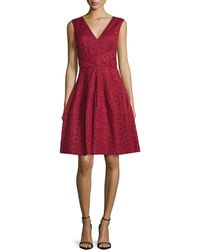 J. Mendel - Sleeveless Lace Fit & Flare Dress - Lyst