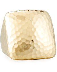 Roberto Coin - Martellato Square 18k Gold Ring Size 6.5 - Lyst