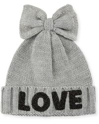 Neiman Marcus - Love Beanie With Bow - Lyst