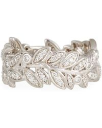 Jude Frances - 18k Sonoma Diamond Leaf Eternity Ring - Lyst