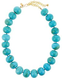 Kenneth Jay Lane - Turquoise Bead Necklace - Lyst