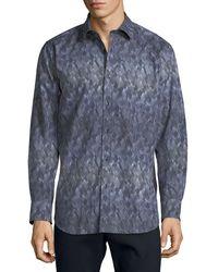 Bugatchi - Men's Classic-fit Printed Sport Shirt - Lyst