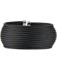 Alor - Wide Multi-row Cable Cuff Bracelet Black - Lyst
