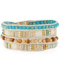 Nakamol - Metallic Thread & Beaded Wrap Bracelet - Lyst