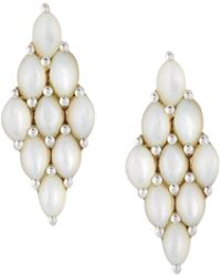 Elizabeth Showers - Honeycomb Post Earrings - Lyst