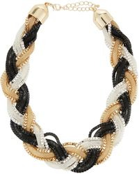 Neiman Marcus - Braided Mesh Chain Necklace - Lyst