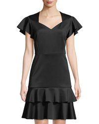 Philosophy - Sweetheart-neck Ruffle Crepe Dress - Lyst