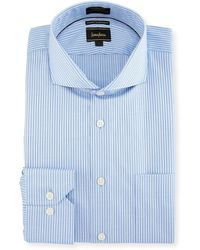 Neiman Marcus - Classic-fit Regular-finish Dobby Dress Shirt - Lyst