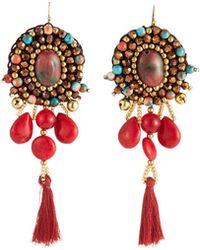 Nakamol - Multi-bead & Tassel Drop Earrings - Lyst