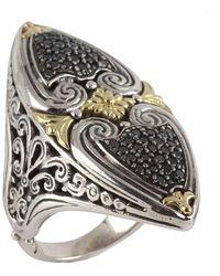 Konstantino - Asteri Marquise Ring W/ Pave Black Diamonds - Lyst
