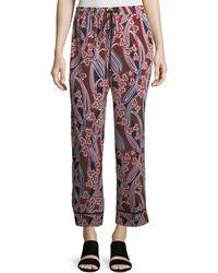 Trina Turk - Berta Graphic-print Silk Lounge Pants - Lyst