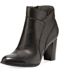 Adrienne Vittadini - Tammy Seamed Soft-leather Bootie - Lyst
