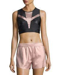 Lanston - Zoe Metallic-block Performance Sports Bra - Lyst