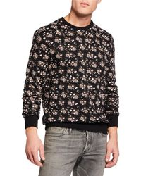 cd015204427 Lyst - J.Crew V-neck Cardigan Sweater With Floral Patch in Brown for Men