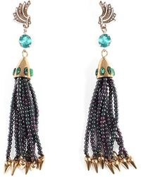 Lulu Frost - Swift Nomadic Tassel Drop Earrings - Lyst
