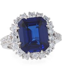 Fantasia by Deserio - Large Cubic Zirconia Cocktail Ring - Lyst